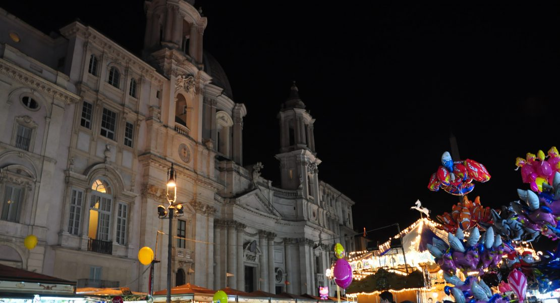 Christmas market at Piazza Navona in Rome