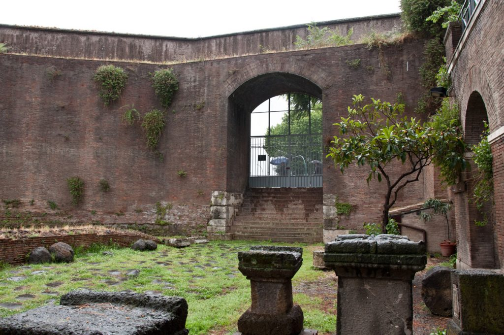 Ancient Roman tombs near the pyramid of Rome